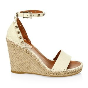100% authentic Valentino wedge espadrille sandals